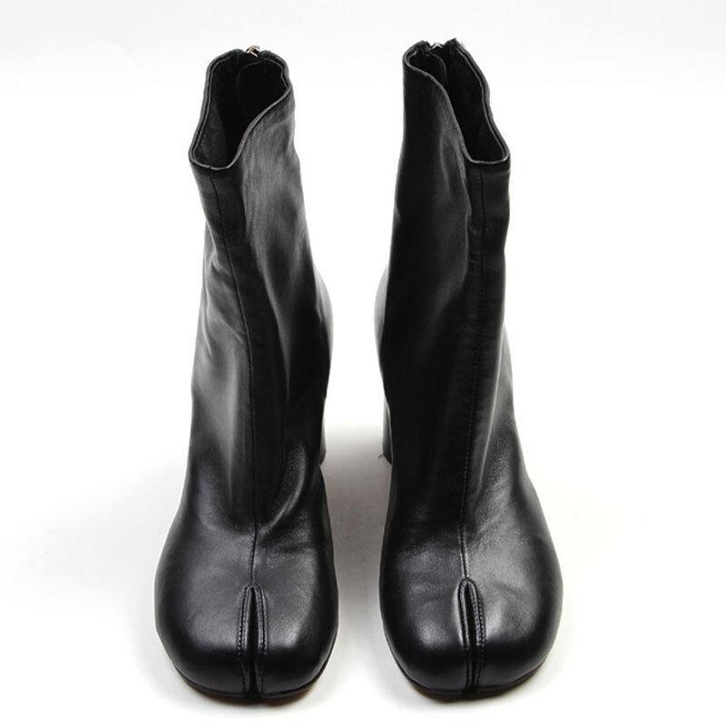 Para Mujer mitad Damas Toe Serraje mitad Mujer de la pantorrilla botas parte Bloque Talón Tobillo botas 2019 eb0a15