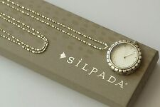 Silpada Exclusive Sterling Silver Leadership Watch Pendant Long Necklace RARE