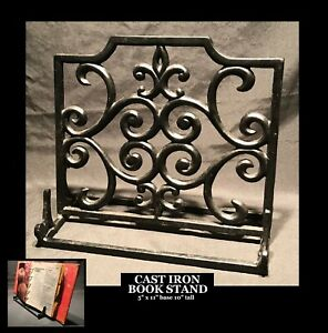 Details About Cast Iron Music Rack Book Stand Easel Display Decorative Ornate Holder