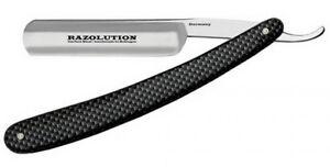 Beliebte Marke Razolution Solingen Rasiermesser 5/8 Carbon Fiber Look Carbonstahl Germany Antiquitäten & Kunst Enthaarung & Rasur