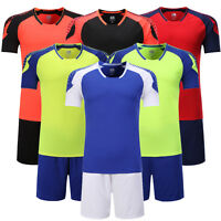 Creative Blank Running Soccer Jersey Kit Football Sport Uniforms Suit Breathable