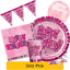 Birthday Party Range Tableware Supplies Decorations ALL AGES PINK GLITZ