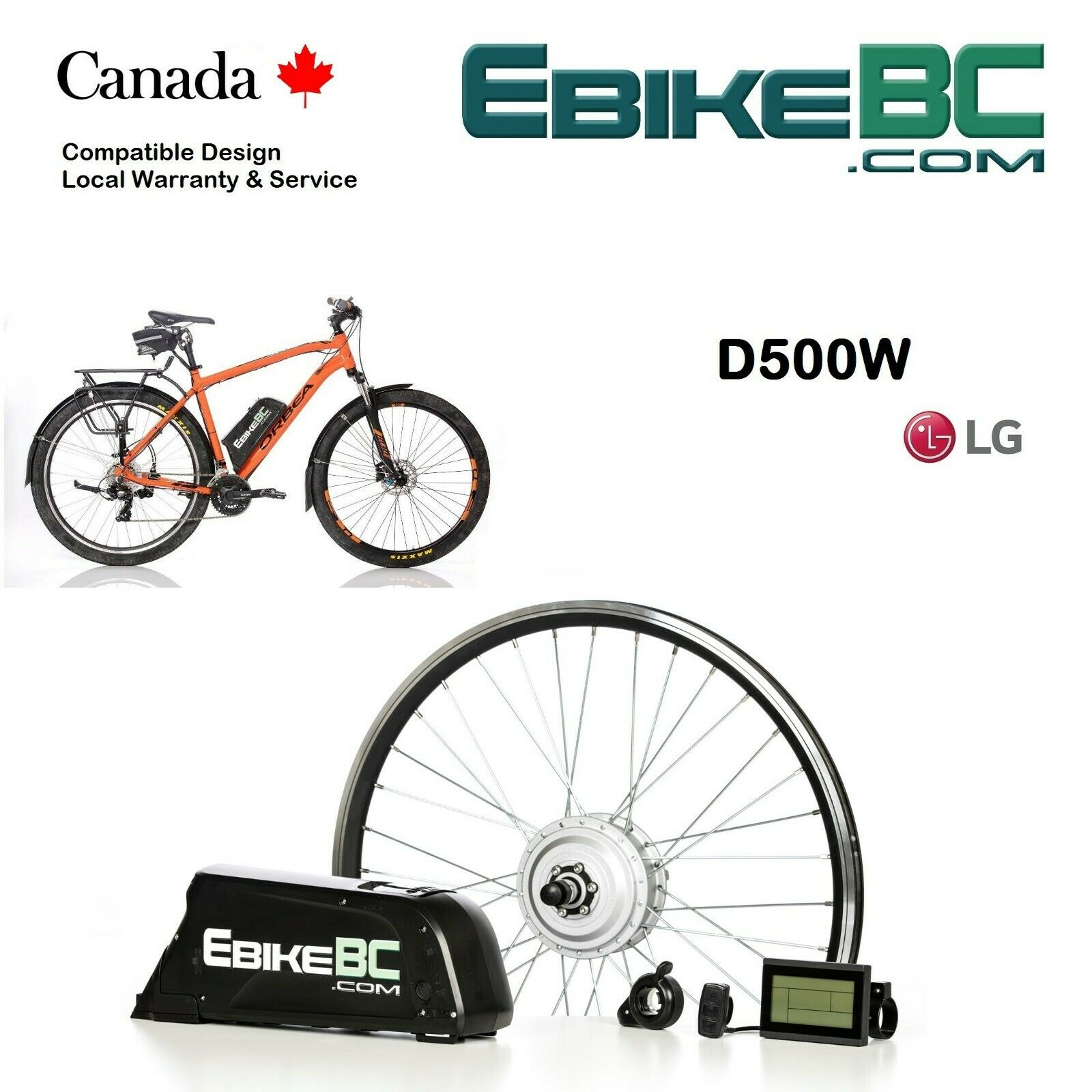 500W Legal Electric Bicycle E Bike conversion Kit Hub Motor rim Li-Ion Battery