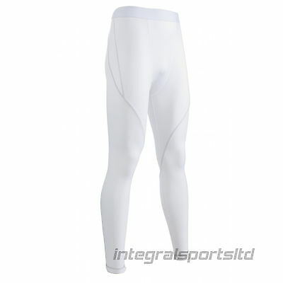 i-sports White Base Layer Tights Adult Sports Compression Performance Fit Pants