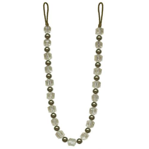 Haute Qualité Moderne Perles Cristal à nouer dans le dos Pour Poids Lourd Rideaux simple