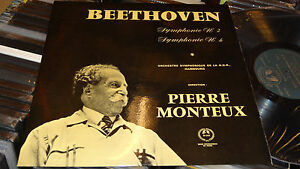 Details about PIERRE MONTEUX BEETHOVEN SYMPHONY 2 4 NDR HAMBURG MMS FRANCE  RARE MMS LP