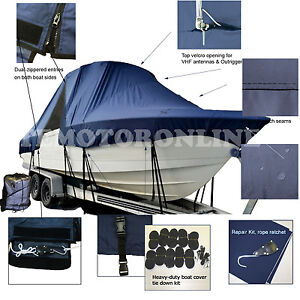 Details about Donzi 26 ZF Center Console Fishing T-Top Hard-Top Boat Cover  Navy