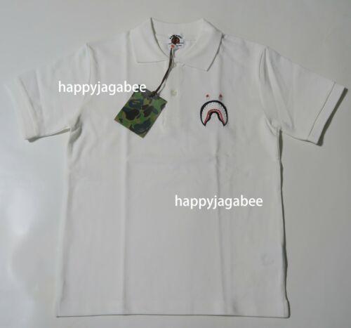 A BATHING APE BAPE KIDS SHARK POLO Shirt Tee 4colors Japan New