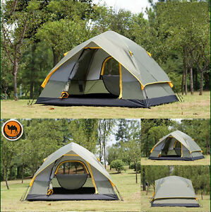 Image is loading Outdoor-C&ing-Camel-Brand-Professional-4-Person-4- & Outdoor Camping Camel Brand Professional 4 Person 4-Season Oxford ...