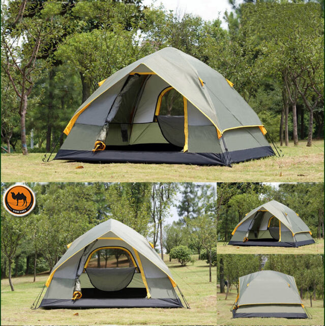 Party 4 Person Camping Tent Double-layer Waterproof Windproof Outdoor Sports New