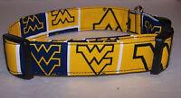 Wet Nose Designs West Virginia University Dog Collar Football Wvu Mountaineers