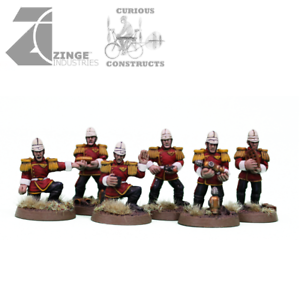 Zinge Industries Empire colonial Artillery Crew 6 Homme Infantry Minis NEUF S-CAC01