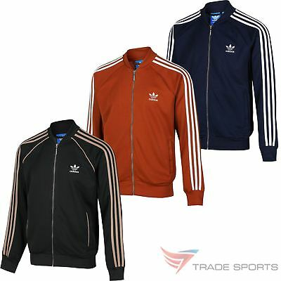 adidas Originals Mens Beckenbauer Track Top in Navy Holiday