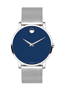 Movado-Museum-Classic-0607349-Men-039-s-Swiss-Blue-Dial-Slim-Watch