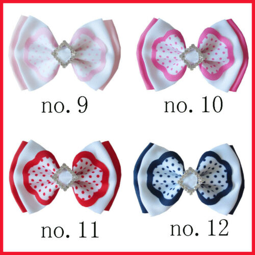 """100 BLESSING Good Girl Boutique 4/"""" Double Bowknot Hair Bow Clip Accessories"""