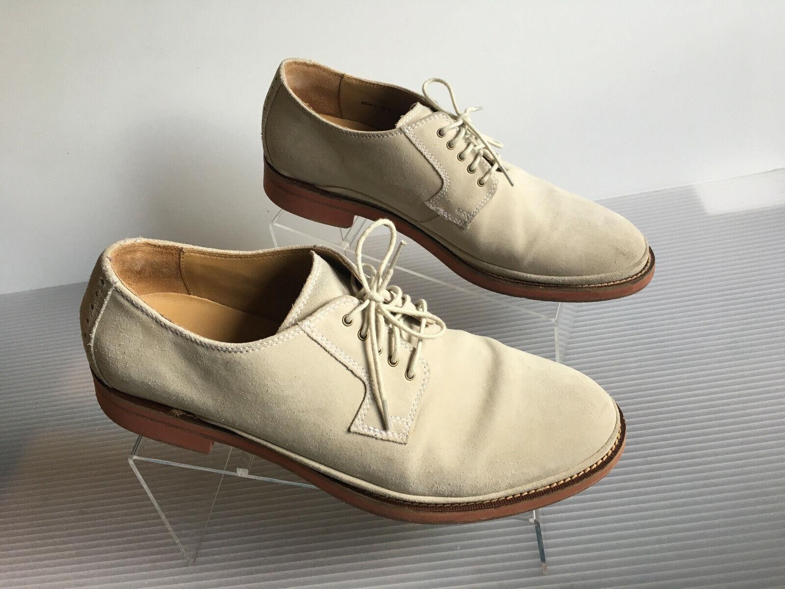 Cole Haan Cream Suede Plain Toe Oxford Men's shoes Sz 10M C12053