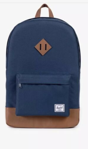 New Genuine Herschel Heritage Onesize 21.5L Tan//Navy Backpack Bag