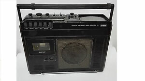 Antica Radio Cassette E TV Marca Mbo Luminoso IN Germania 1979 Vintage