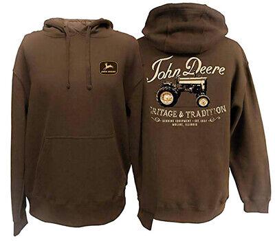 NEW John Deere Charcoal Gray Hoodie Sweatshirt M L XL 2X