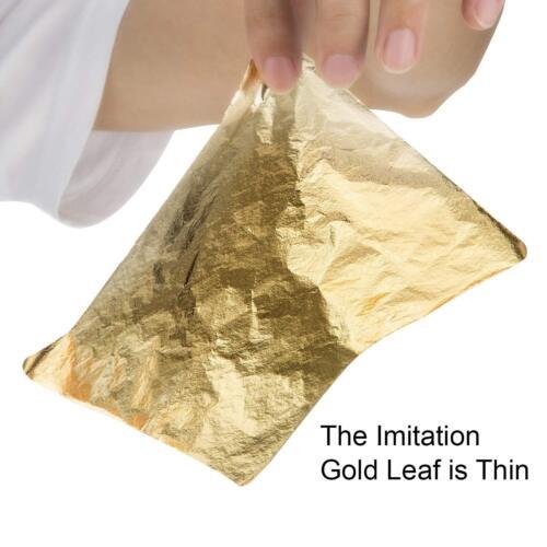 Bememo 100 Sheets Imitation Gold Leaf For Arts 5. Decoration Gilding Crafting