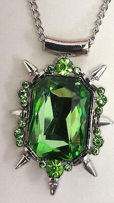 Bad Witch Green Stone Pendant with Chain in Gift Box- Once Upon a Time