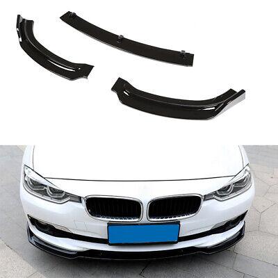 3PCS For BMW F30 F35 320li Base 13-18 Front Bumper Lip Spoiler Splitter CF Look