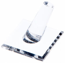 Plymor Acrylic Ring Finger Display Single On Square Base 2 W X 2 D X 175 H