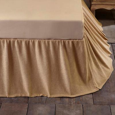 Bedding Solid Khaki Queen Bedskirt Dust, Khaki Bed Skirt Queen