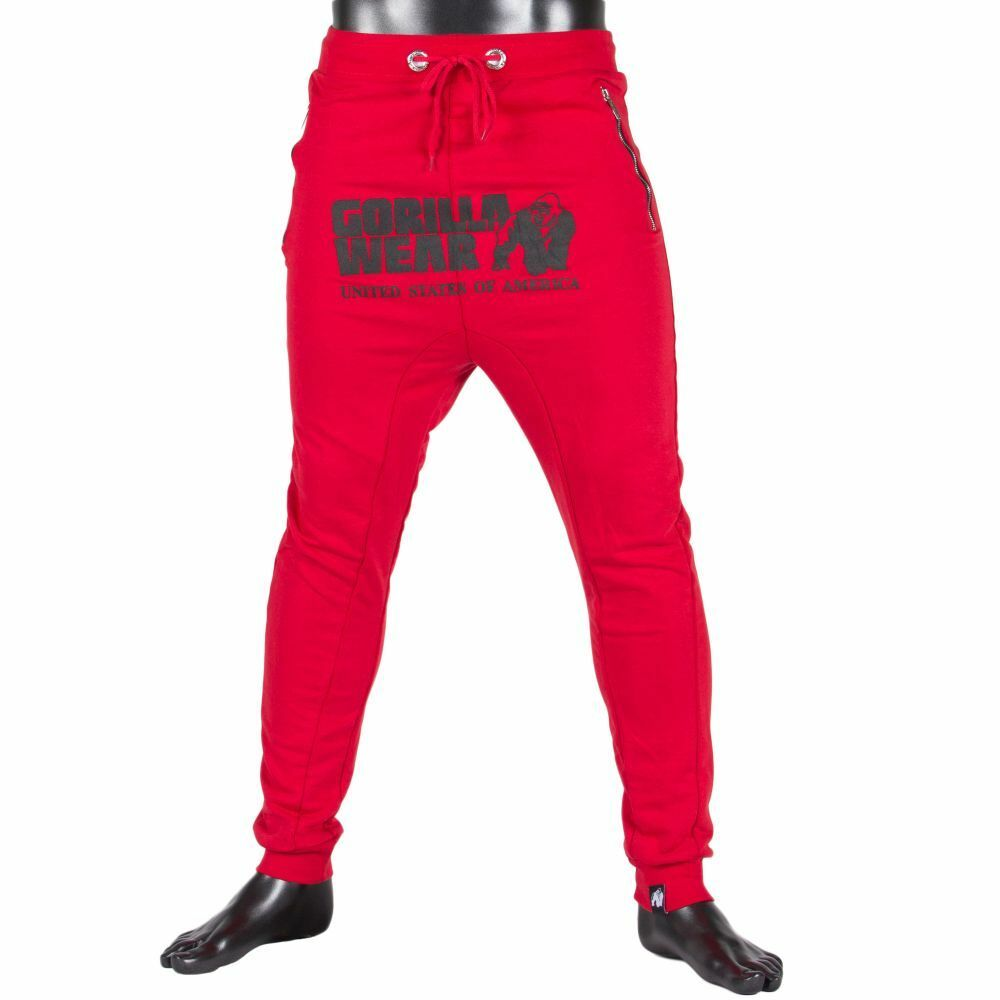 Gorilla Wear ALABAMA drop crotch Joggers Rosso