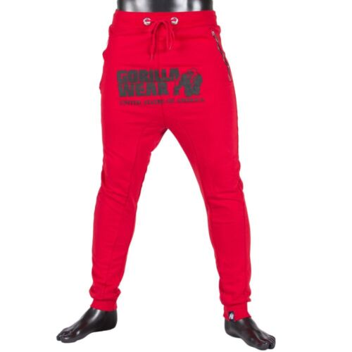 Gorilla Wear Alabama Drop Crotch Joggers Red