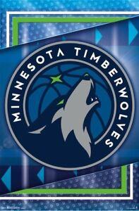 Minnesota Timberwolves Official Nba Basketball Team Logo Wall