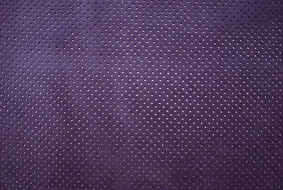 Barkers LeatherCraft Hide /& Skins Perforada Gamuza Cuero de becerro púrpura h267s