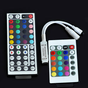 Mini-24-44-Key-IR-Remote-Controller-DC-12V-12A-For-LED-RGB-3528-5050-Light-Strip