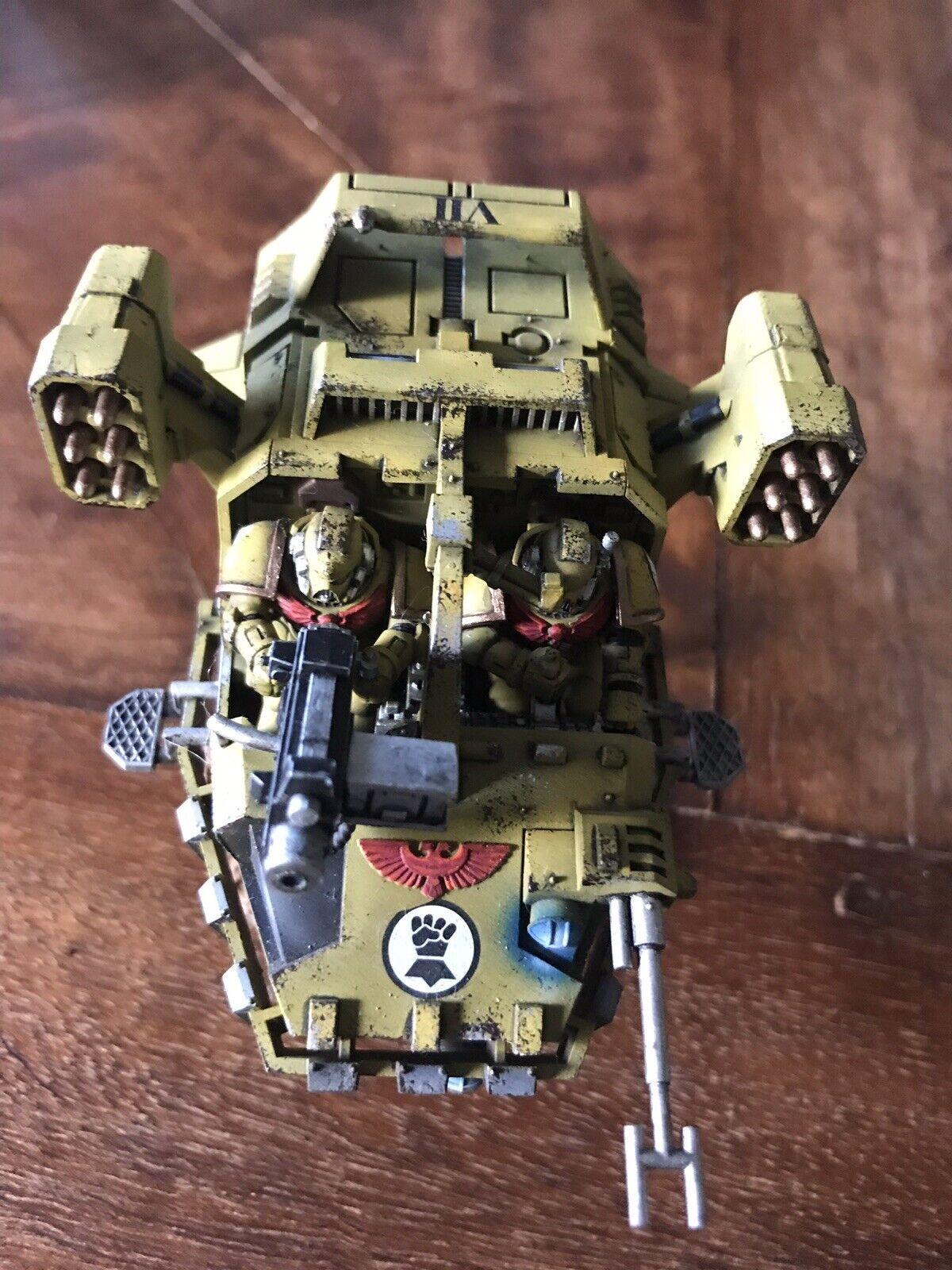Warhammer 40k Space Marines Army Painted Landspeeder Typhoon Games Workshop