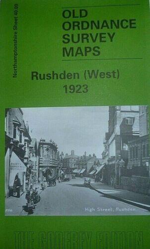 Old Ordnance Survey Maps Rushden West 1923 Northamptonshire Godfrey Edition New