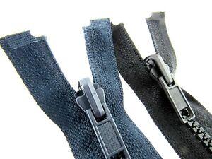 Reversible Grueso Plástico Abierta Cremallera ( N º 5 Cadena) - Negro/Azul