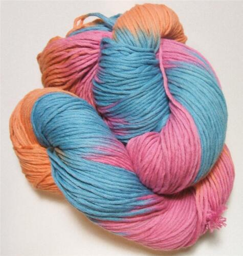Euro Baby Cuddly Cotton Color 112 Turquoise Orange Pink 100 Gram Skein