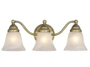 Antique brass vaxcel standford 3l vanity bathroom wall discount light vl35123a for Inexpensive bathroom light fixtures