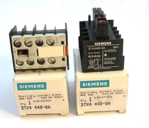 NIB Siemens 3TX4440-0A Auxiliary Contact Block Lot of 2 New 3TX4 440-0A