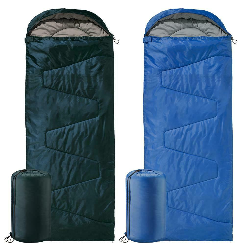 Deckenschlafsack Mikrofaser XXL 220x85cm Kapuze Campingdecke Outdoor aqua-textil