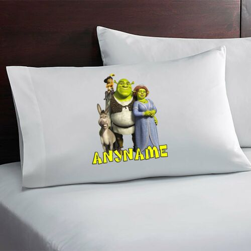 Shrek Personalized Pillow Case Custom Made w Your Name