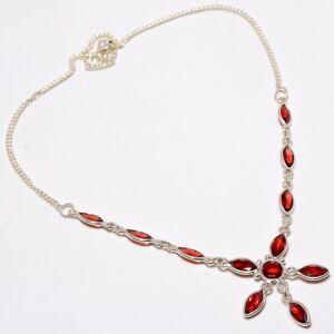 Garnet-Gemstone-Handmade-Ethnic-Style-925-Sterling-Silver-Necklace-18-034-N-4
