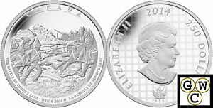 2014-Kilo-Battle-of-Lundy-039-s-Lane-War-of-1812-250-Silver-Coin-9999-Fine-13952