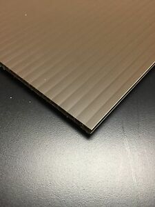 4mm Grey 24 Iin x 12 in Corrugated Plastic Coroplast Sheets Sign 2 pcs