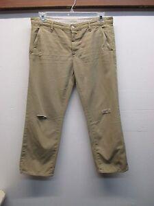 Vintage Khaki EUC Twill Aged Størrelse Crop 30 Army Adriano kæreste Goldschmied Ex qOgq7P