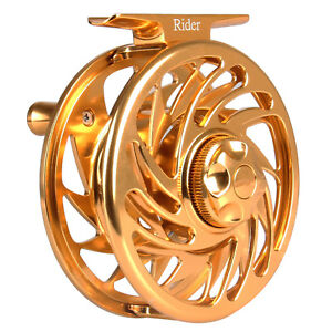 Rider-Gold-Fly-Reel-3-4-5-6-7-8-9-10WT-CNC-Machined-Aluminum-Fly-Fishing-Reel