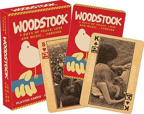 PLAYING CARD DECK WOODSTOCK CLASSIC CONCERT 52281 52 CARDS NEW