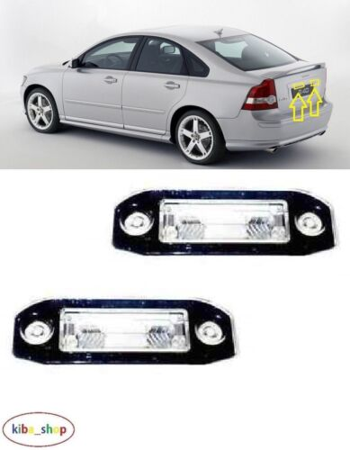 VOLVO S40//V50 2004-2012 2X NEW REAR NUMBER PLATE LIGHT LAMPS PAIR