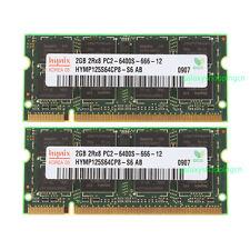 New Hynix 4GB 2X 2GB DDR2 800MHz 2RX8 PC2-6400S 200pin SO-DIMM Laptop Memory RAM