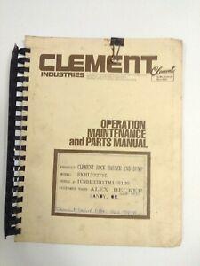 Clement-Industries-Operation-Maintenance-And-Parts-Manual-Rock-Hauler-Dump-End